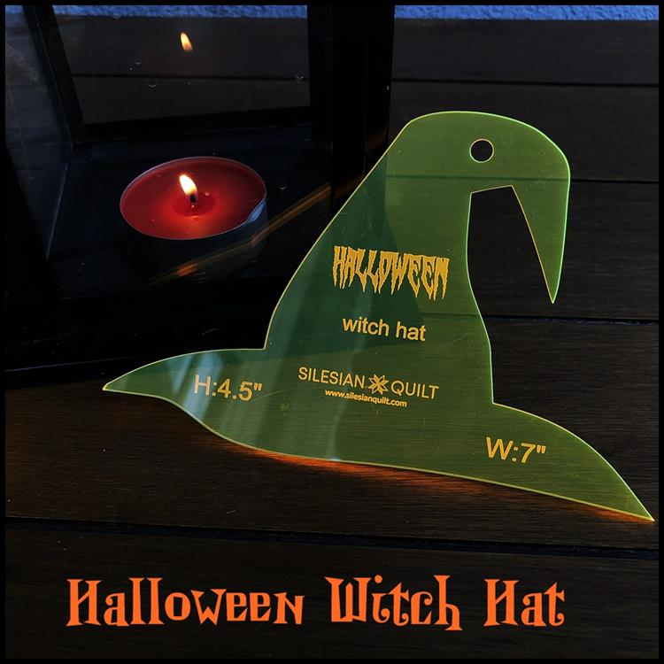 Halloween Hexenhut Applikation