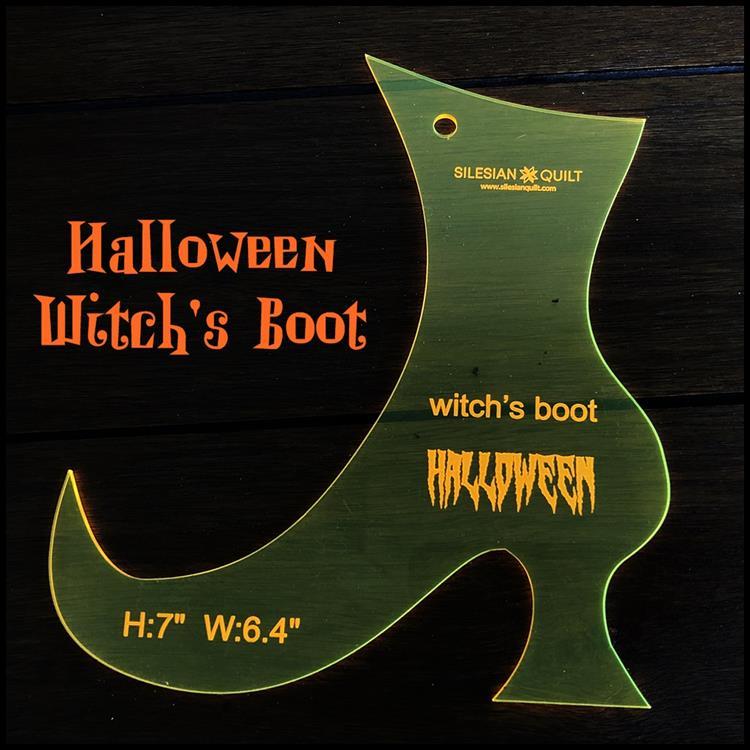 Halloween Hexenstiefel Applikation